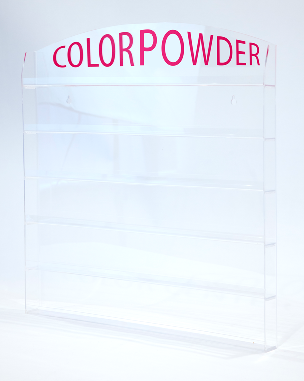 Acrylic wall Mounted Rack Color Powder(1oz - 96 Pcs)