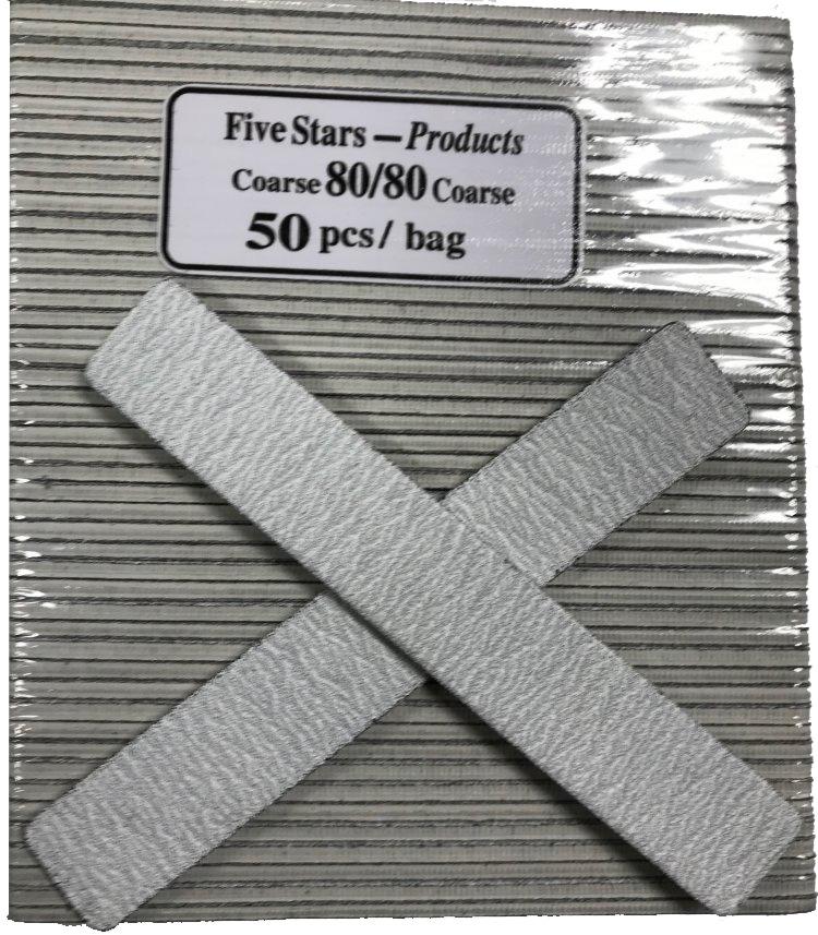 JUMBO Nail File - Square Zebra - 80/80 - 50ct/bag