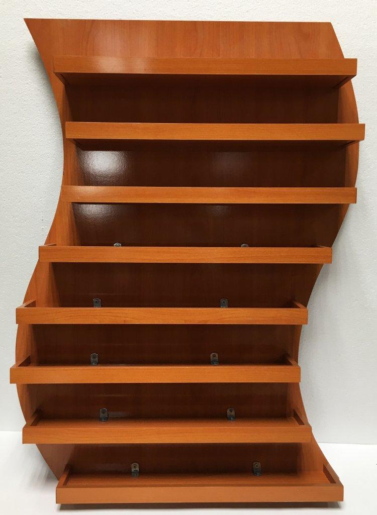 S - Wall Polish Rack - Dark Wooden Color (208 bottles)